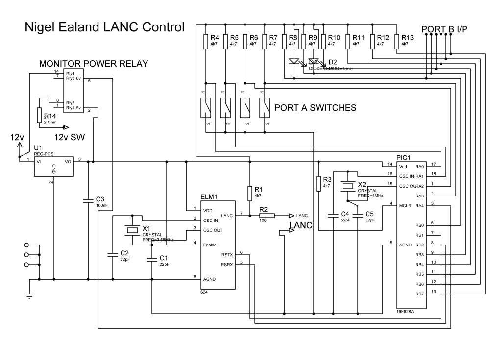 pic lanc control board